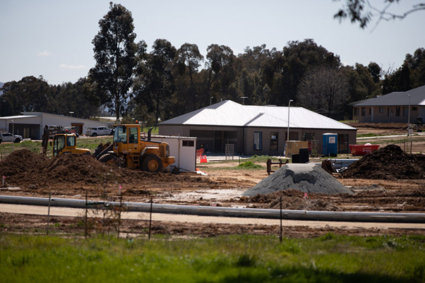 Housin estate under construction