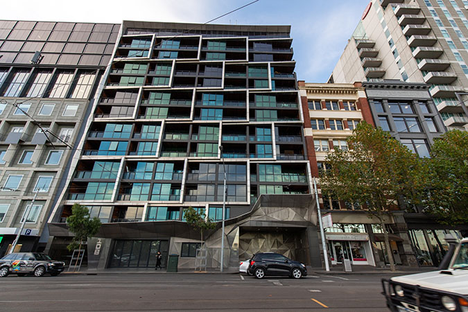 Apartment building in Melbourne's CBD