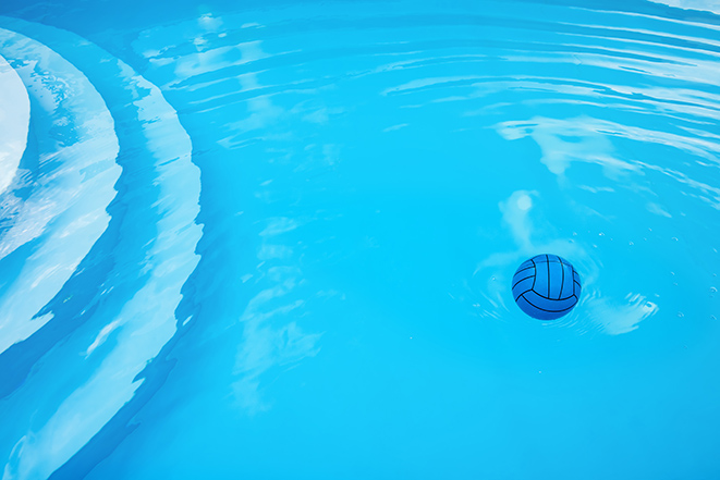 Swimming pool with ball