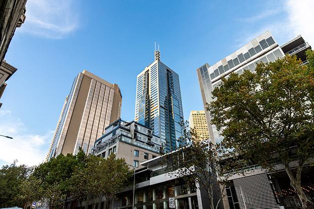 Melbourne city streetscape