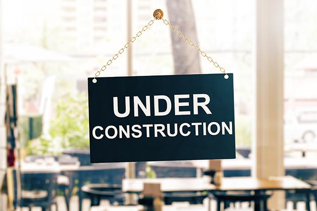 Café under construction